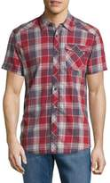 Buffalo David Bitton Short-Sleeve Cotton Plaid Shirt