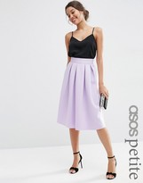 ASOS PETITE Midi Pleated Prom Skirt in Scuba