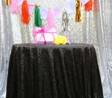 Dream QueenDream 120'' Round Sequin Tablecloth,wholesale Wedding Beautiful Sequin Table Cloth / Overlay /Cover