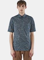 Lanvin Slim Fit Chevron Print Shirt In Navy