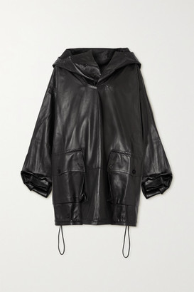 Petar Petrov Marjan Hooded Leather Jacket - Black