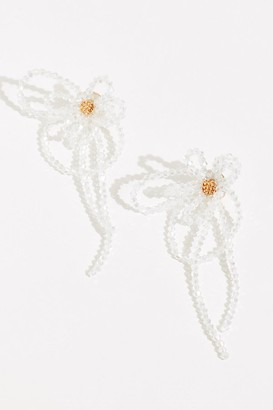 Valet Studio Pearl Flower Dangle Earrings