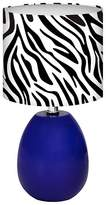 Lumisource Glass Glow Melon Table Lamp - Blue/Zebra