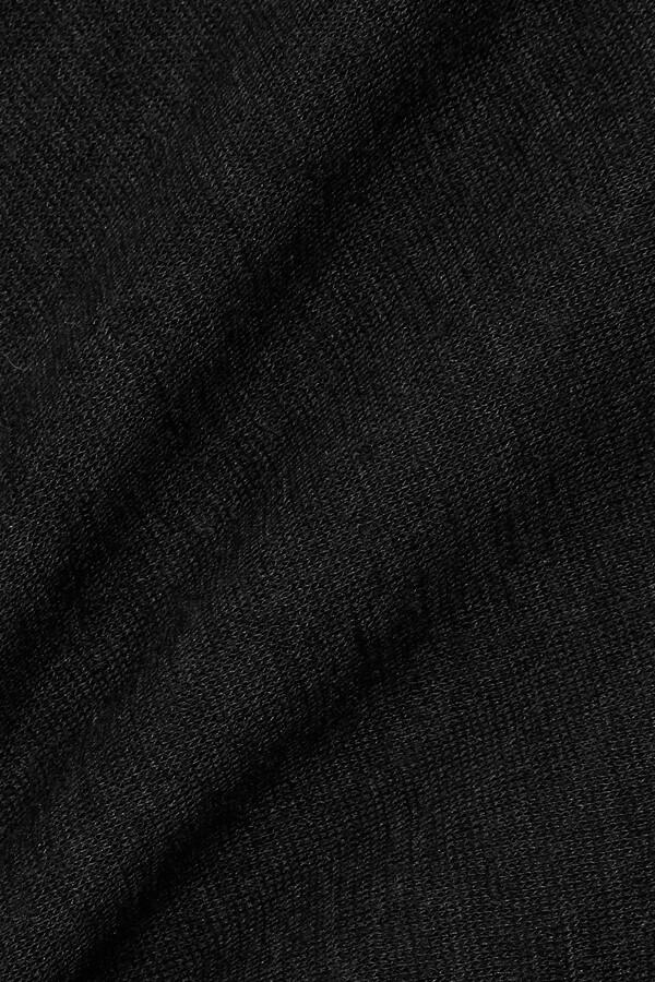 Thumbnail for your product : FRANCES DE LOURDES Marlon Slub Cashmere And Silk-blend Top - Black