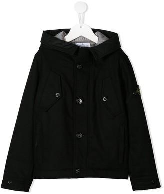 Stone Island Junior Hooded Parka Coat