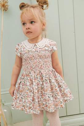 BNWT NEXT GIRLS LILAC FLORAL SUMMER DRESS AGE 4