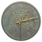 Whitehall Products Tree of Life 16-Inch Indoor/Outdoor Wall Clock in Bronze Verdigris