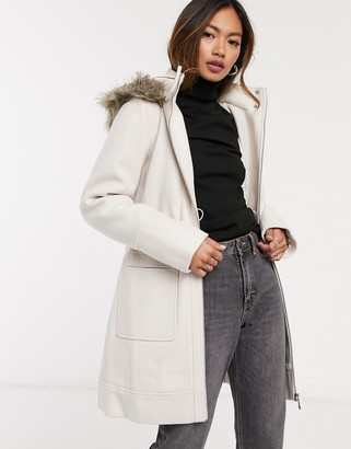 Ever New formal parka in cream