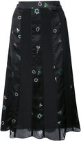 Creatures of the Wind geometric print panelled skirt