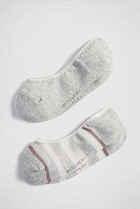 Witchery Stripey Loafer Socks