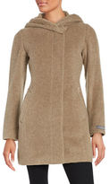 Cole Haan Mohair Alpaca Hooded Coat