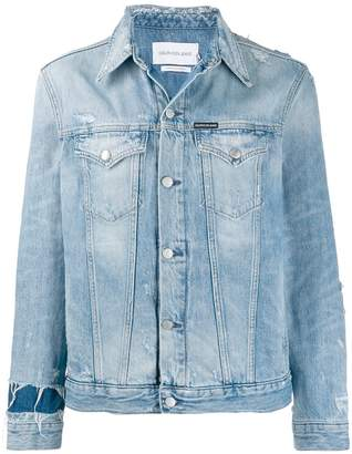 Calvin Klein Jeans bleached denim jacket