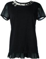 Twin-Set pearl embellished T-shirt