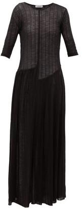 Jil Sander Wool-blend Jersey Maxi Dress - Womens - Black