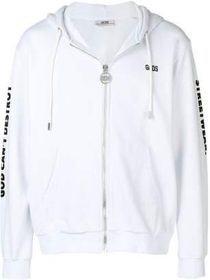 GCDS front zip hoodie
