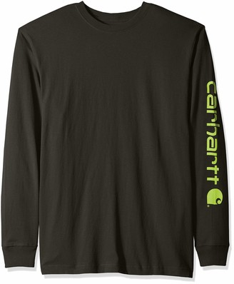 Carhartt Men's Signature Sleeve Logo Long Sleeve Shirt