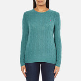 Polo Ralph Lauren Women's Julianna Cashmere Blend Crew Neck Jumper Aqua Melange