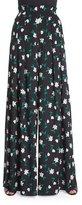 Carolina Herrera High-Waist Wide-Leg Pants, Black/Green/White