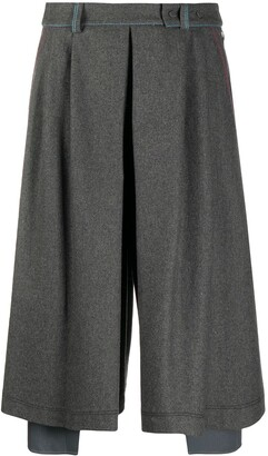 Maison Flaneur Pleated Midi Skirt