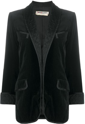 Yves Saint Laurent Pre Owned Quilted-Effect Open-Front Blazer