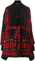 Balmain - oversized tweed cape coat