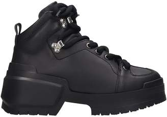 Pierre Hardy Hardy Trapper Combat Boots In Black Leather