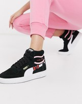 x Hello Kitty Ralph Sampson mid sneakers in black