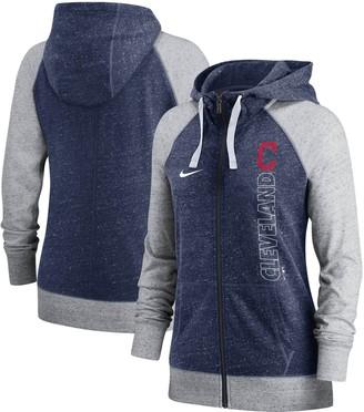 Nike Women's Navy Cleveland Indians In Pocket Gym Vintage Full-Zip Hoodie