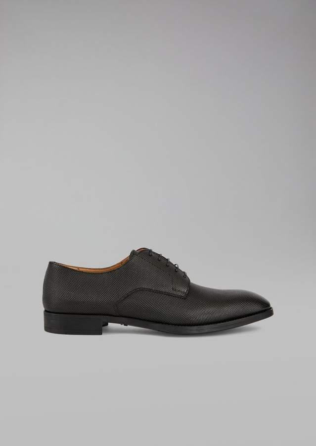 Giorgio Armani Lace-Up Leather Oxfords
