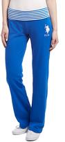 U.S. Polo Assn. Blue Amazon Stripe Waist Yoga Pants