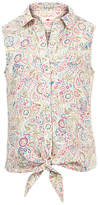 Fat Face Girls' Elephant Doodle Blouse, Ecru
