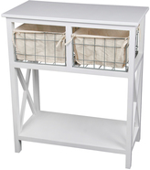Privilege Two-Drawer Storage Stand Console Table