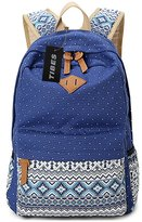 Tibes Casual Canvas Backpack for Teen Girls,Light Weight Backpacks