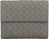 Bottega Veneta Women's Intrecciato Mini Wallet-LIGHT GREY
