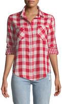 Velvet Heart Riley Button-Front Checkered Blouse