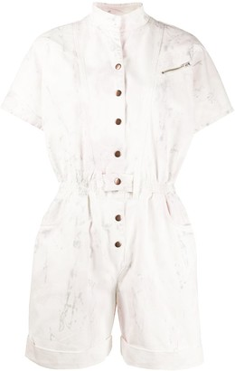 Redemption Short Sleeve Stand Up Collar Playsuit
