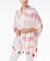 INC International Concepts Striped Tassel Wrap & Scarf in One, Created for Macy's
