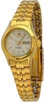 Orient #FNQ0400BC Women's Gold Tone Tri Star Gold Dial Automatic Watch