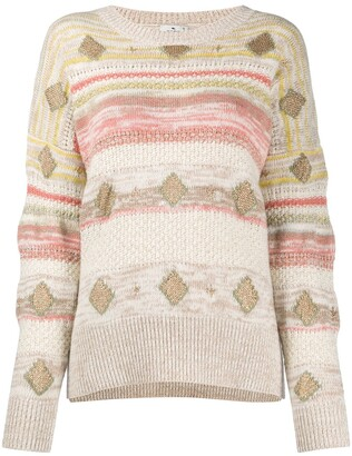 Etro Intarsia Knit Oversized Jumper