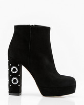 Le Château Italian-Made Suede Rivet Heel Ankle Boot