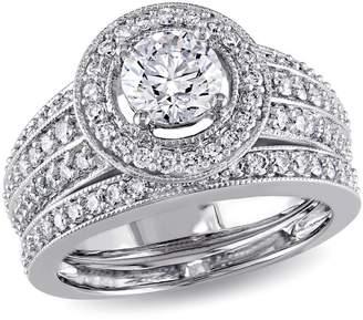 Concerto 1.5CT Diamond 14K White Gold Halo Bridal Set