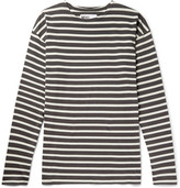 Margaret Howell Mhl Striped Cotton-jersey T-shirt - Charcoal