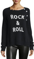 Zadig & Voltaire Rock & Roll Cashmere Raglan Pullover Sweater, Black