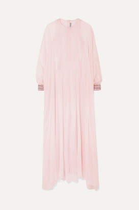 Ralph & Russo - Crystal-embellished Silk-chiffon Gown - Pastel pink