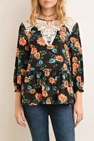 Entro Floral Scoop Top