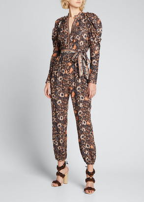 Ulla Johnson Meadow Floral-Print Jumpsuit