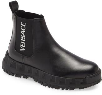 Versace Logo Platform Chelsea Boot