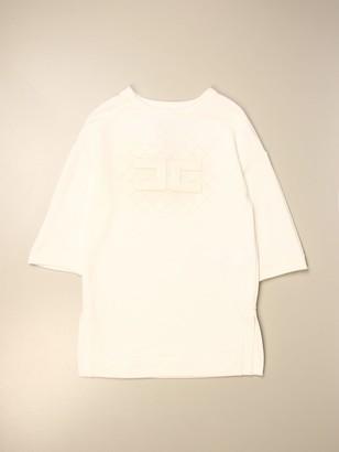 Elisabetta Franchi Dress In Cotton With Logo