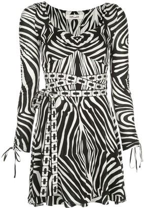 Dvf Diane Von Furstenberg Hollis Swarovski-embellished mini dress