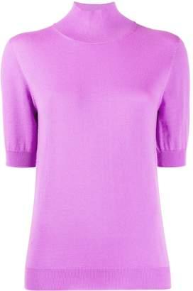 Blumarine short-sleeved mock neck top